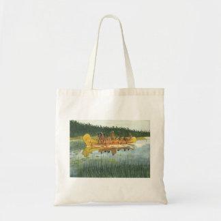 Native American Canoe Tote Bag