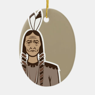 Native American Ceramic Ornament