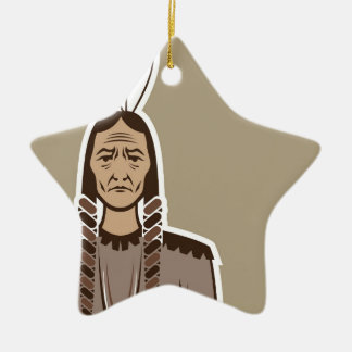Native American Ceramic Ornament