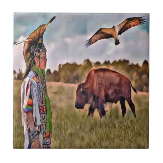 Native American Ceramic Photo tile