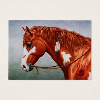 Native American Chestnut Pinto War Horse Business Card