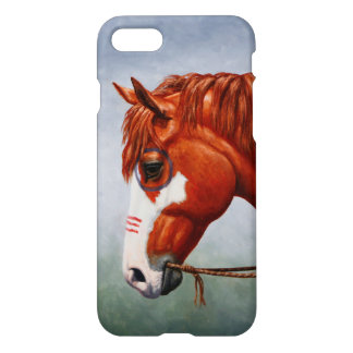 Native American Chestnut Pinto War Horse iPhone 8/7 Case