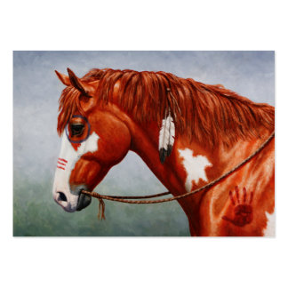 Native American Chestnut Pinto War Horse Large Business Card