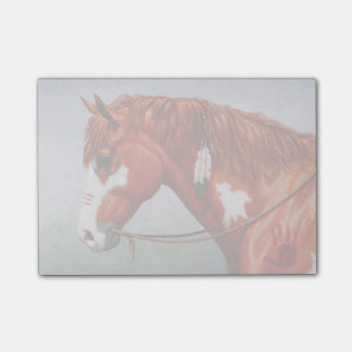 Native American Chestnut Pinto War Horse Post-it® Notes
