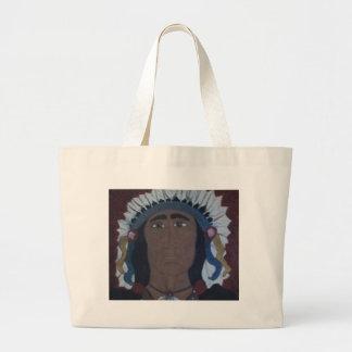 Native American Chief Jumbo Tote Bag