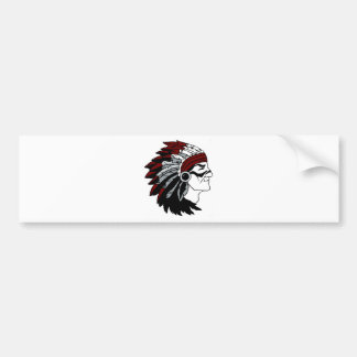 Native American Chief Bumper Sticker