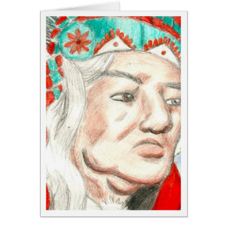 Native American Chief Card