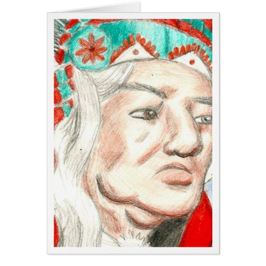Native American Chief Card