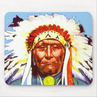 Native American Chief Mousepad
