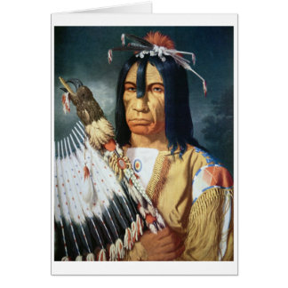 Native American Chief of the Cree people of Canada Card