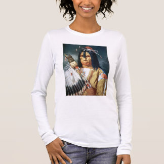 Native American Chief of the Cree people of Canada Long Sleeve T-Shirt