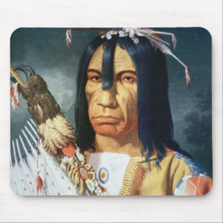 Native American Chief of the Cree people of Canada Mouse Pads