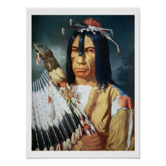 Native American Chief of the Cree people of Canada Poster