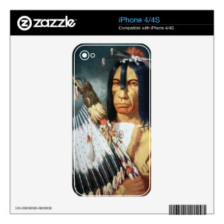 Native American Chief of the Cree people of Canada Skins For The iPhone 4S