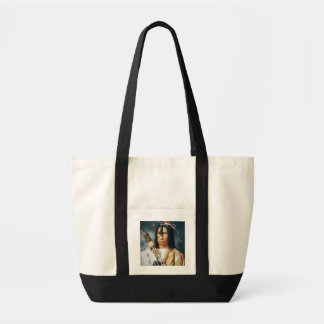 Native American Chief of the Cree people of Canada Tote Bag