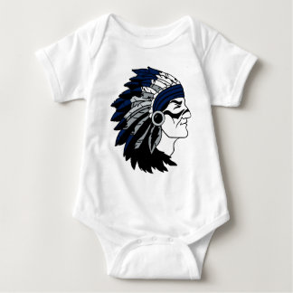 Native American Chief with Blue Headress Baby Bodysuit