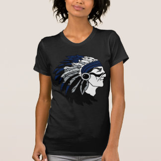 Native American Chief with Blue Headress T-Shirt
