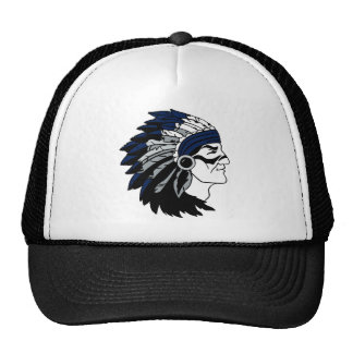 Native American Chief with Blue Headress Trucker Hat