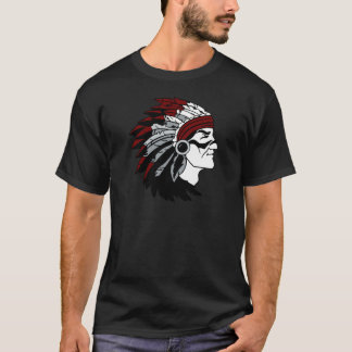 Native American Chief with Red Headdress T-Shirt