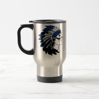 Native American Chief with Red Headress Travel Mug