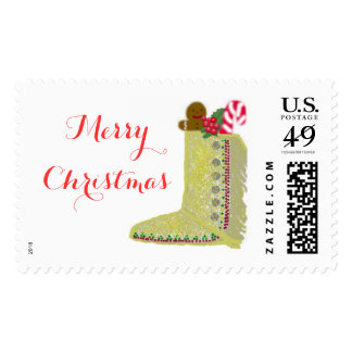 Native American Christmas Stocking Postage Stamp