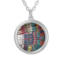 Native American Church Fans, coffee cup, shirts Silver Plated Necklace