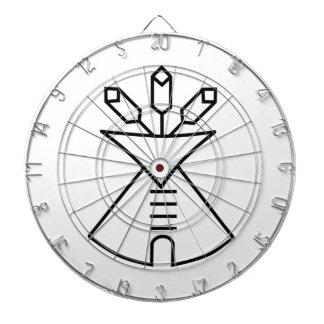 Native American Church Symbol Dart Board