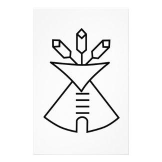 Native American Church Symbol Stationery