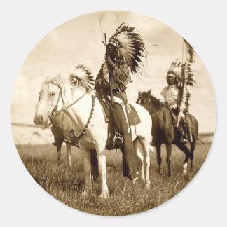 Native American Classic Round Sticker