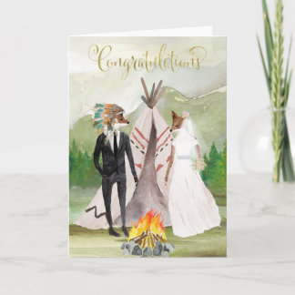 Native American Congratulations on Your Wedding Card