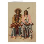 Native American Couple, 1899 Greeting Cards