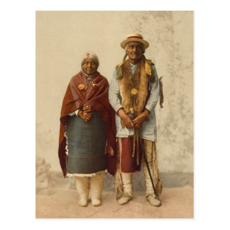 Native American Couple, 1899 Post Cards