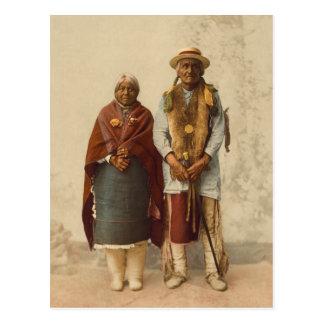 Native American Couple, 1899 Postcard