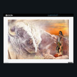 "Native American Couple and Buffalo  Zazzle Skin<br><div class=""desc"">Leather textured background with a Native American couple in the red rocks   and vignette white buffalo NOTE: This product  is a printed design and contains no real leather,  sheepskin, beads or feathers</div>"