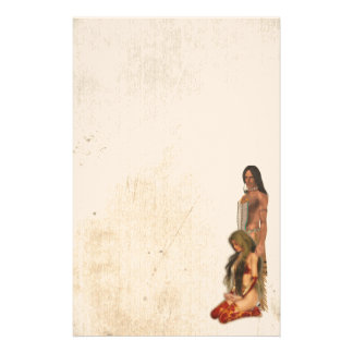 Native American Couple Stationery