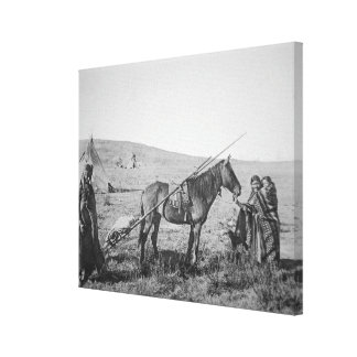 Native American Cree people of Western Canada, c.1 Canvas Print