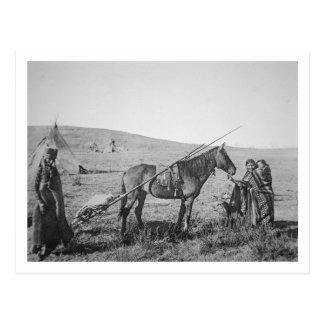 Native American Cree people of Western Canada, c.1 Postcard