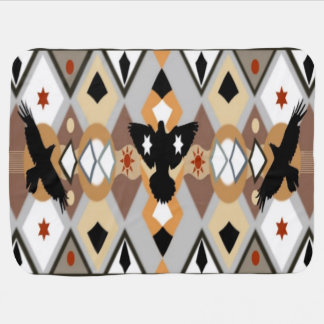Native American Crow Baby Blanket