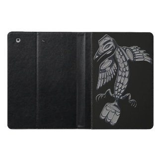 Native American Crow design full - Black iPad Air Case