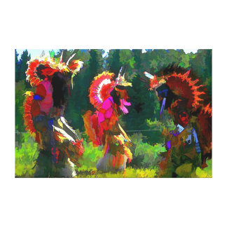 native american dance canvas print