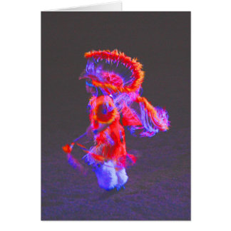 Native American Dance - red - notecards Card