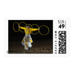 Native American Dance - yellow rings - postage