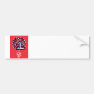 Native American Day Celebration Retro Poster Card Bumper Sticker