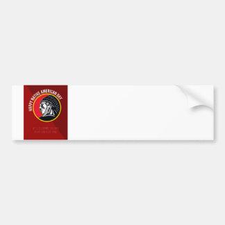 Native American Day Retro Poster Card Bumper Sticker