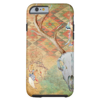 Native American Deer Skull amulet map feathers Tough iPhone 6 Case
