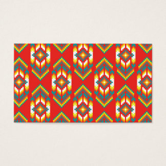 Native American Design Fire Business Card