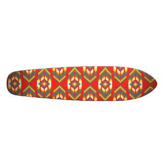 Native American Design Fire Custom Skateboard