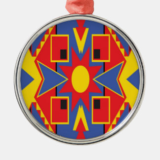 Native American Design Metal Ornament