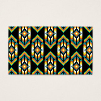 Native American Design Midnight.png Business Card