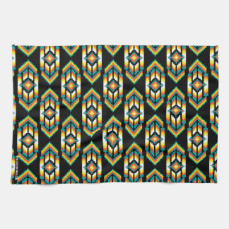 Native American Design Midnight.png Hand Towels